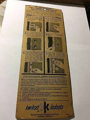 Vintage Kwikset Deadlock Adapter Trim Plate - Decorates Doors