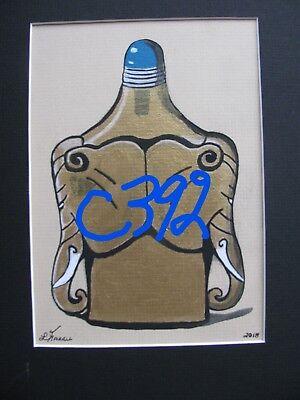 "C394        Original Acrylic Painting By Ljh    ""Purple Haze''      Still Life 4"