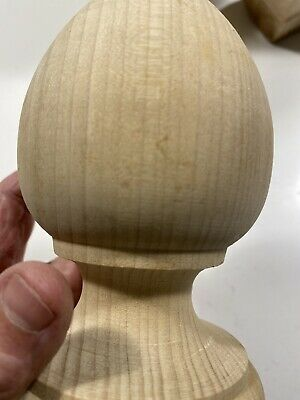 Beautiful One 1 WOOD FINIAL UNFINISHED FOR NEWEL POST FINIAL CAP Furniture Top 10