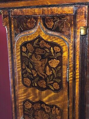 Antique Marquetry English Longcase Grandfather Clock 8 Day Museum Quality 4