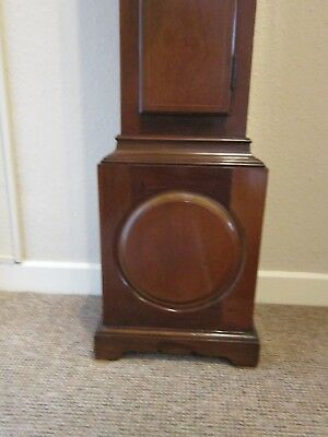 Edwardian period three train weight driven 1/4 striking grandmother clock. 5