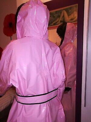 ZWEISEITLICH 2in1 PVC Regencape Lack Gummimantel Raincoat Regenmantel Vintage 6
