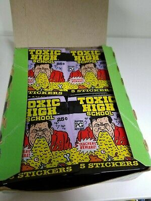 1992 Topps Toxic High School Collectible Trading Pack Sticker Box 2 BOX LOT 6