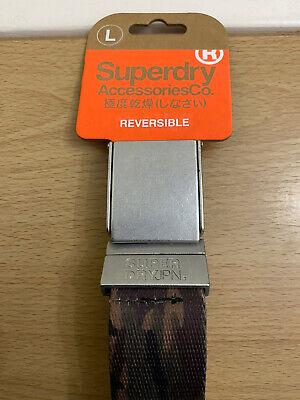 Green Camo BNWT Superdry NEW Men/'s Reversible Printed Canvas Belt