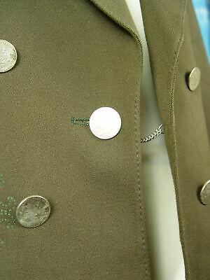 neuwertig traditionelle Stickerei dkl.braun langer Janker Jacke -HL124- Gr.90/48 4