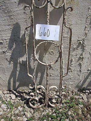 Antique Victorian Iron Gate Window Garden Fence Architectural Salvage Door #660 2