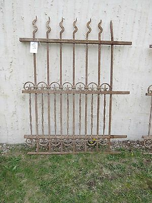 Antique Victorian Iron Gate Window Garden Fence Architectural Salvage Door #309 5