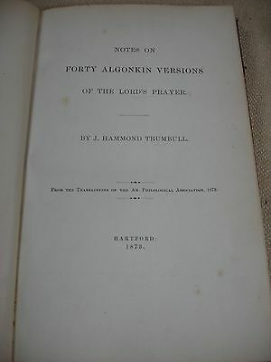 Notes on Forty Algonkin Version of the Lord's Prayer - 1873 - Bible - FBHP-14 2