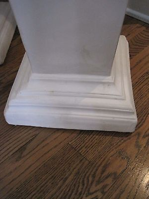 "Beautiful Pair of Estate White Plaster Pedestals, 35"" Tall 4"