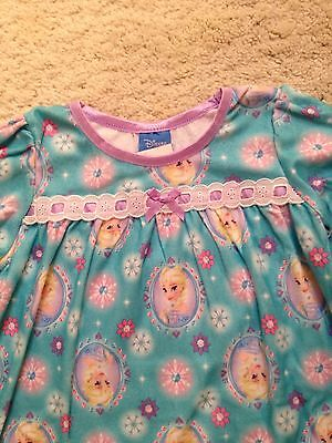 New Character Long-Sleeve Flannel Nightgown w Lace ..Toddler 2T,3T,4T Doll Dress