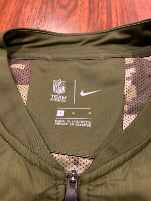 best service 19cd1 f18be NIKE MEN'S NEW York Giants Salute To Service Hybrid Jacket Large L NFL  Football