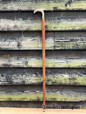 Stylish Silver Chrome Derby Men Walking Stick Cane Brown Hardwood Shaft Stick 5