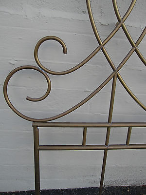 Unique Vintage Antique Brass Architectural Ornament Wall Garden Décor Headboard 5