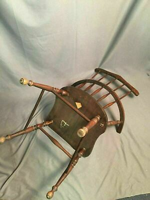 Antique Spindle Back Bow Wood Chair Made In USA 4
