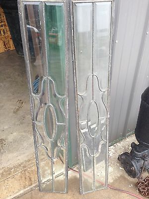 One Pair Bevel Glass Sidelights In Zinc No Wood Frame Sg 23 4