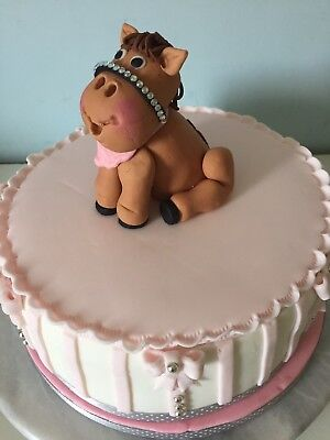 Fantastic Equestrian Horse Pony Cake Scene Made From Edible Wafer Paper Personalised Birthday Cards Xaembasilily Jamesorg