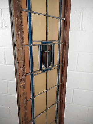 Tall Vintage Stained Glass Window Panel (1704)NJ 2