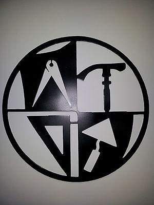 MAURER Zunftzeichen RUND aus 3mm STAHL, 40cm, Innungsschild Handwerkszeichen, 3
