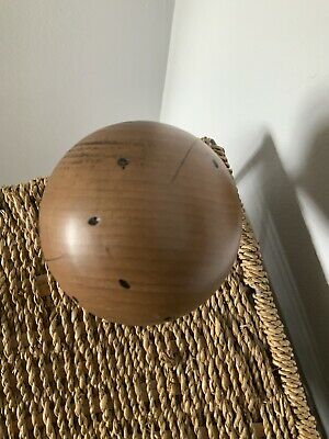 NEW LARGE SOLID WOOD BALL FINIAL KNOWLE NEWEL POST 8mm M8 Distressed Look 8
