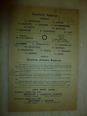 1946/47 Football Programme - CHARLTON ATHLETIC v CHELSEA - 1st February 5