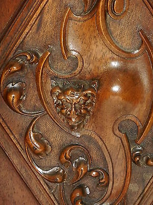 Fabulous lot of 2 French Antique Carved Oak Wood Door Panel, Gothic pattern 4