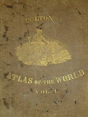 Vintage 1857 MAP ~ ASIA ~ Old Antique Original Colton's Atlas Map 3