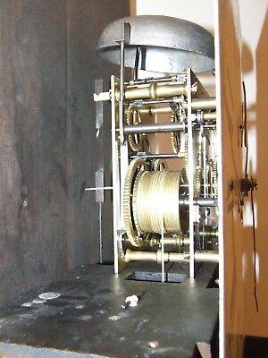 ~ Antique Oak & Mahogany Inlaid Grandfather Longcase Clock : WOOD KNUTSFORD 8