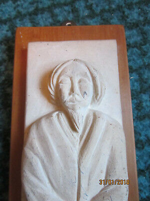 An unusual Carved figure in relief, uphill Lincoln