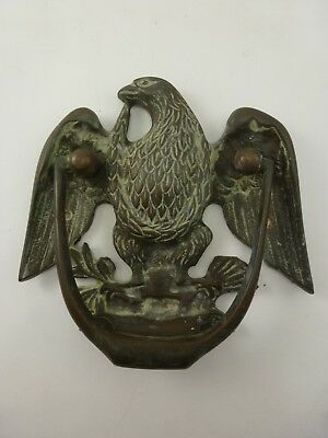 Vintage Japanese Heavy Brass Bronze American Eagle Door Knocker