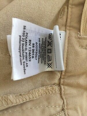 Polarn O Pyret Smart Cotton Beige Trousers Age 10-11 146cm Excel Cond 4