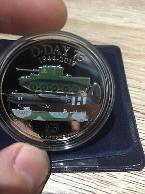 £5 D Day 75th Anniversary Coin Forces Five Pound 3