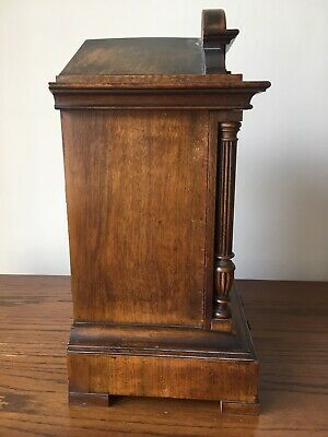 Antique Junghans Carved Oak Mantel Clock Westminster Chime Musical With Bracket 9