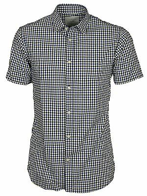 Jack & Jones Mens Short Sleeve Shirts Casual Slim Fit Check Size S,M,L,XL 2