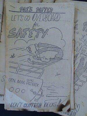 RARE 12 Magazine Newspaper Archive  Pat's Patter Korean War USAT MM Patrick 1951 2