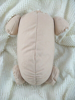 "18"" reborn baby doll body cloth doe suede for 3/4 arms & full jointed legs kits! 7"