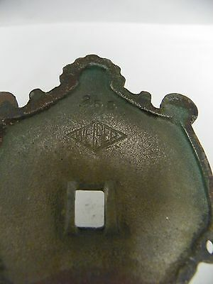 Antique Vintage WEISER #255 Front Door Entry Handle ~ Plated Brass?   12 Inch 9