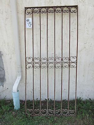 Antique Victorian Iron Gate Window Garden Fence Architectural Salvage Door #53 5