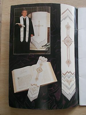 Hardanger Neck Lace~Janice Love~Liturgical Stole~Collars~Bible Bookmark~Hats...