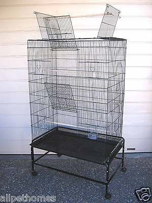 Bird Cage Parrot Aviary Pet OPEN TOP Budgie Perch Castor Wheels Large SUPREMO