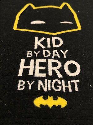 Unisex BATMAN child's kids 18 month T-shirt Kid by day Hero by night Shirt Top P 3