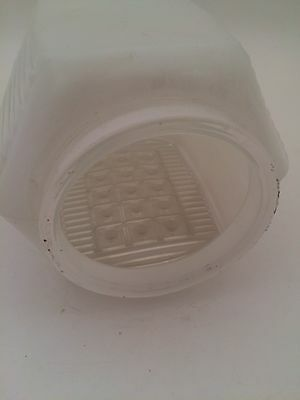 Vintage Retro White Clear Waffle Texture Wall Globe Shade Light Cover 3 Inch 3