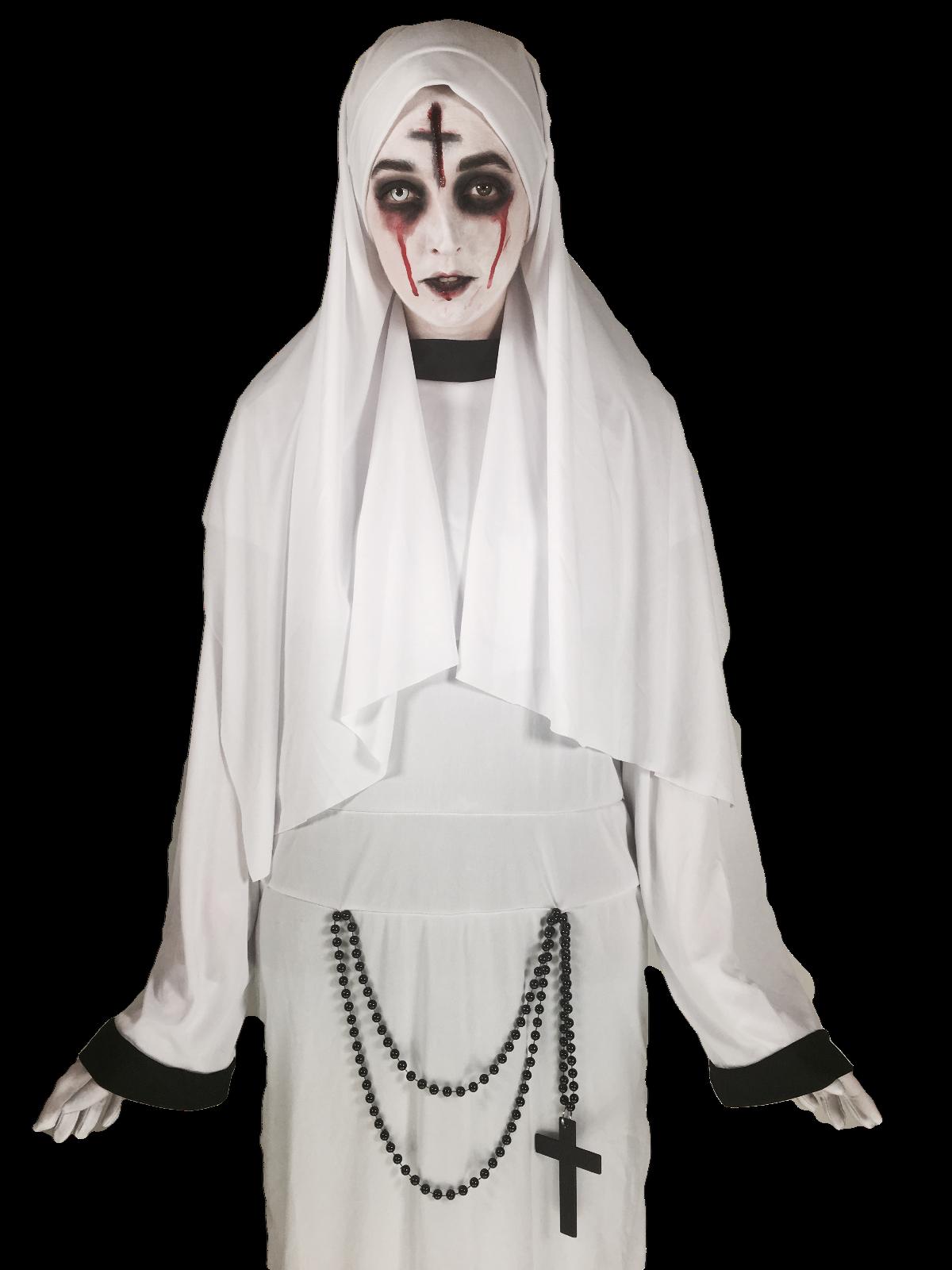 Adulte Homme Nun Nouveauté Sister Habitude Stag Do Fancy Dress Costume Outfit U37 164