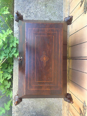 Antique Early 19th Century Inlaid Mahogany Sarcophagus Shaped Wine Cellarette 9