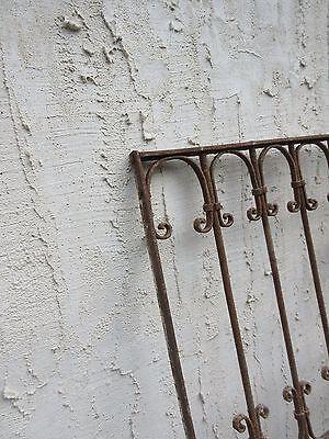 Antique Victorian Iron Gate Window Garden Fence Architectural Salvage Door #674 5
