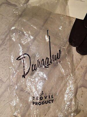 Vintage UNUSED Ladies Dark BROWN Fine Leather Gloves Duragluv Yeovil & Letter 4