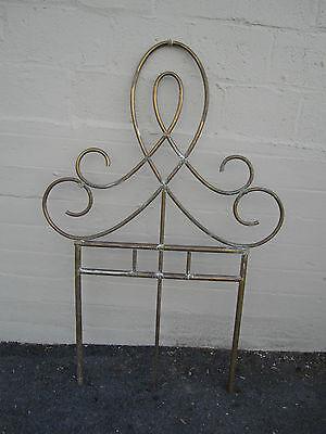 Unique Vintage Antique Brass Architectural Ornament Wall Garden Décor Headboard 8