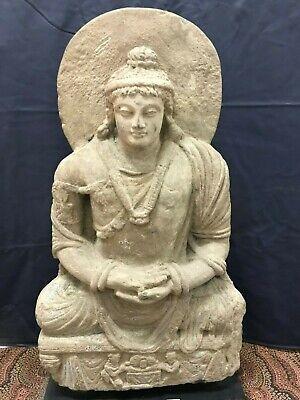 Ancient Gandhara/Gandharan Stone Seated Maitreya Buddha C, 200 A 10