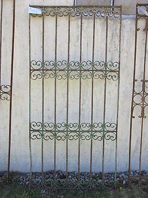 Antique Victorian Iron Gate Window Garden Fence Architectural Salvage Door #382 5