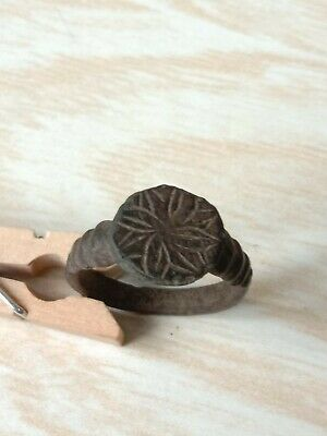 Bronze ring of the ancient Vikings. 9