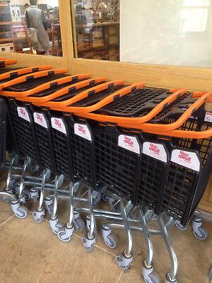 Orange Shopping Trolley Small Supermarket Cart Araven Loop Trolley 100L 7